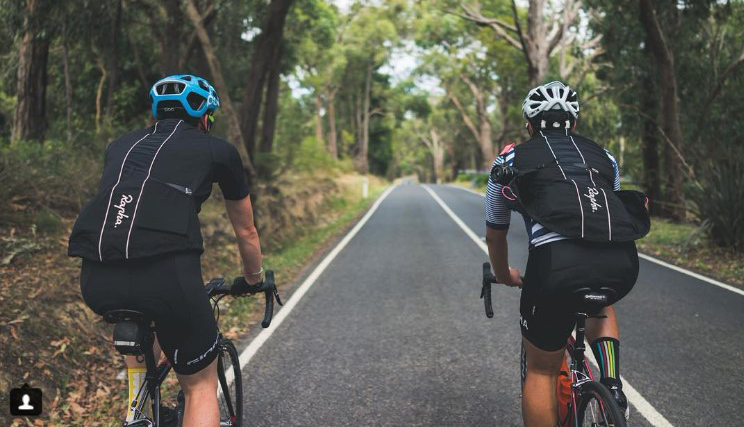 Cyclists training for Peaks Challenge Falls Creek