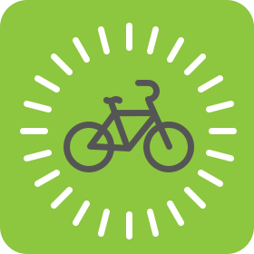 Getting started on a bike icon