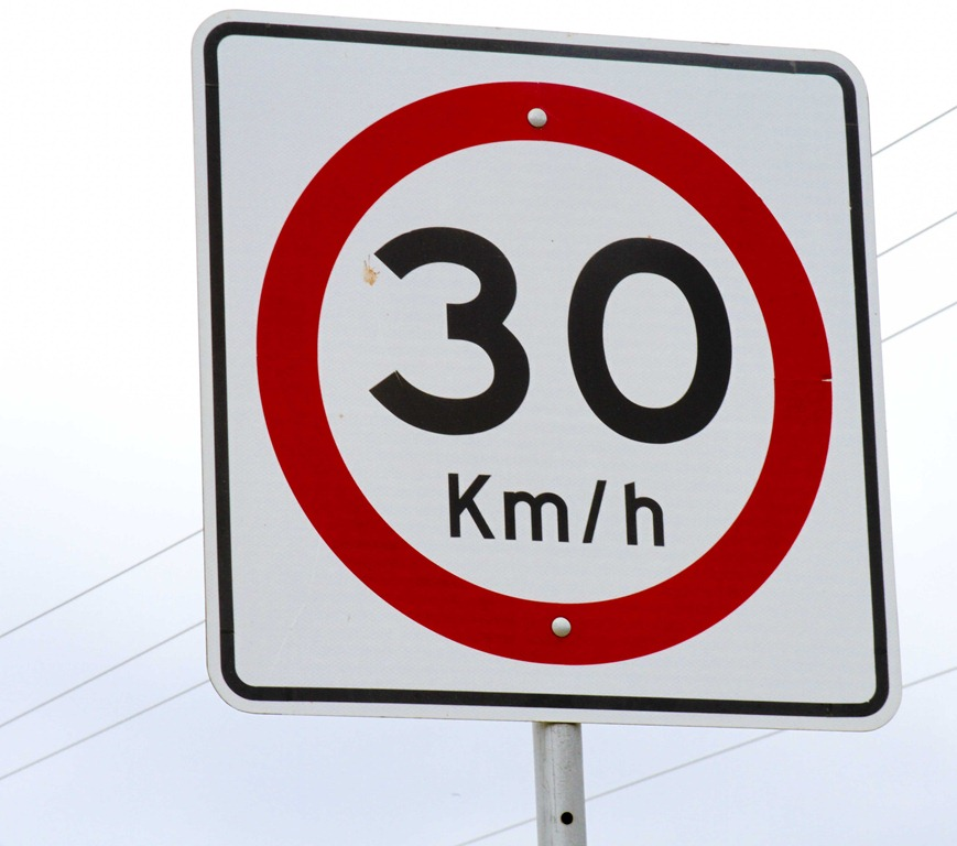 30km/h speed limit sign