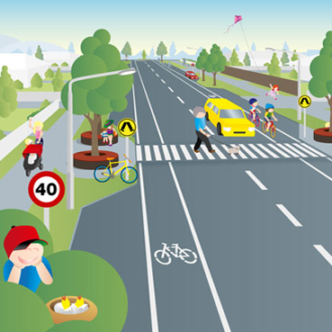 livable streets illustration