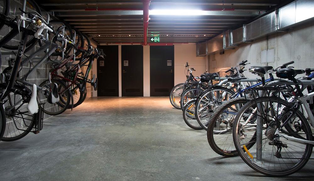 Workplace bike parking