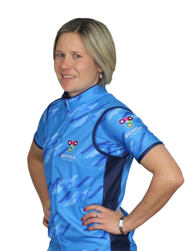 Team Bicycle Network rider Kate Penglase