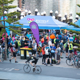 Docklands site at Ride2Work day