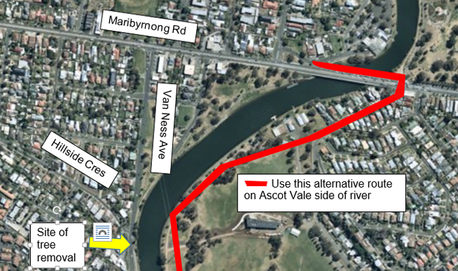 Riders on the Maribyrnong Trail near Highpoint West will face a detour in early January as improvements are made to the Trail.