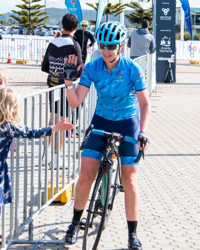 Peaks Challenge finish line - Prita Jobling-Baker