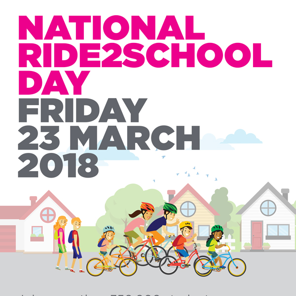 2018 National Ride2School Day poster