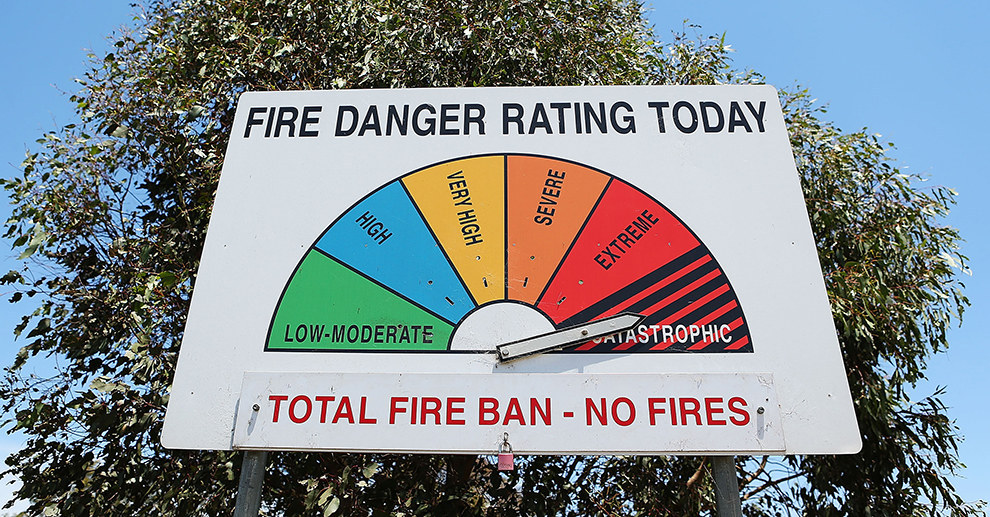 Fire Danger Rating Australia - sourced:https://www.pinterest.com.au/pin/455004368580988797/