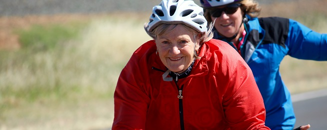 Ageing bike rider