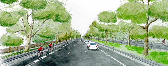 Artists impression Plenty Road