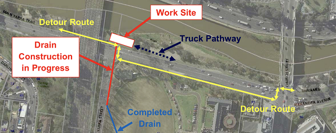 Main Yarra Trail drain project