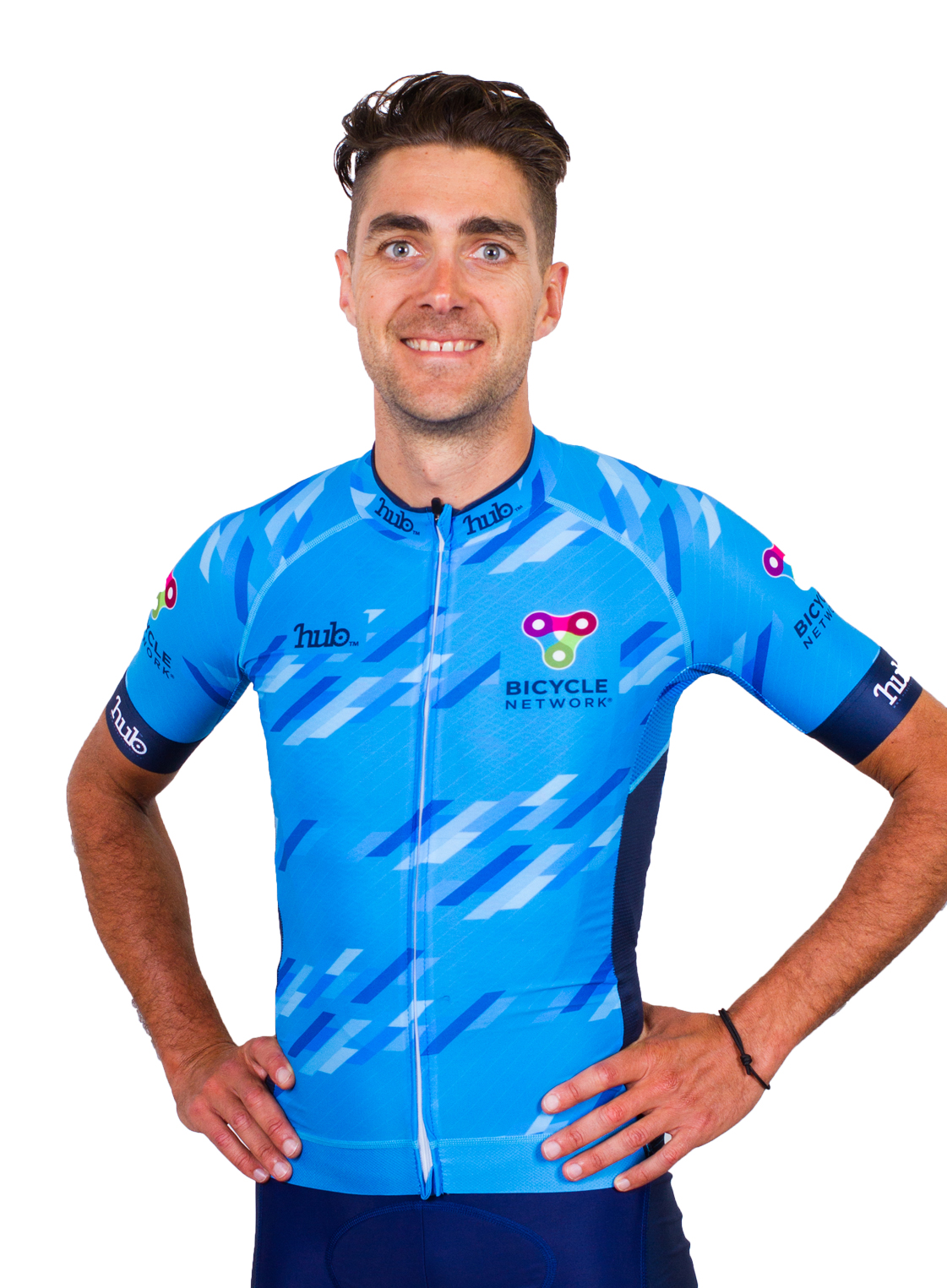Team Bicycle Network rider Steve Lane