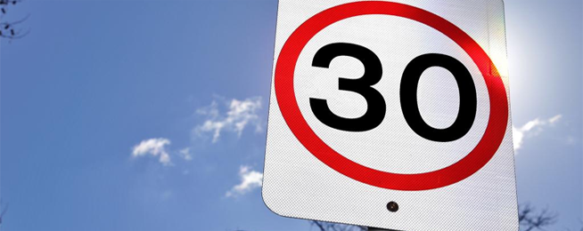 30km speed limit