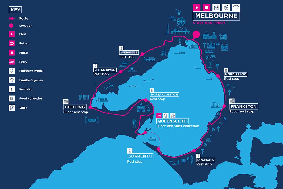 250km route