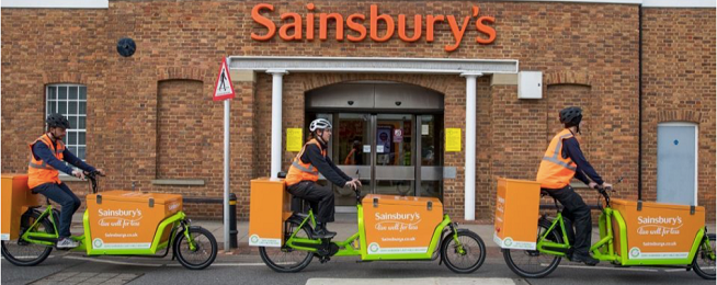 Sainsbury's bike deliveries