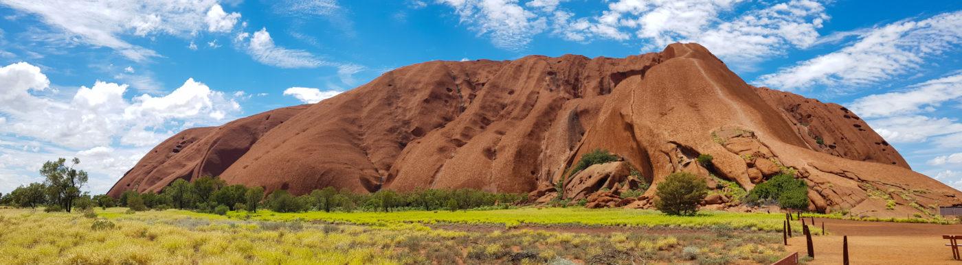 Cycling around Uluru