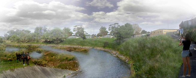 Moonee Ponds Creek illustration
