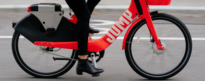 Jump e-bike owned by Uber