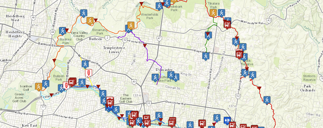 Mullum Mullum Trail map