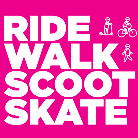 Ride, walk, scoot or skate to school