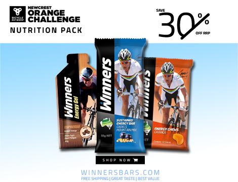 Winners bars Newcrest Orange Challenge 2019 nutrition pack