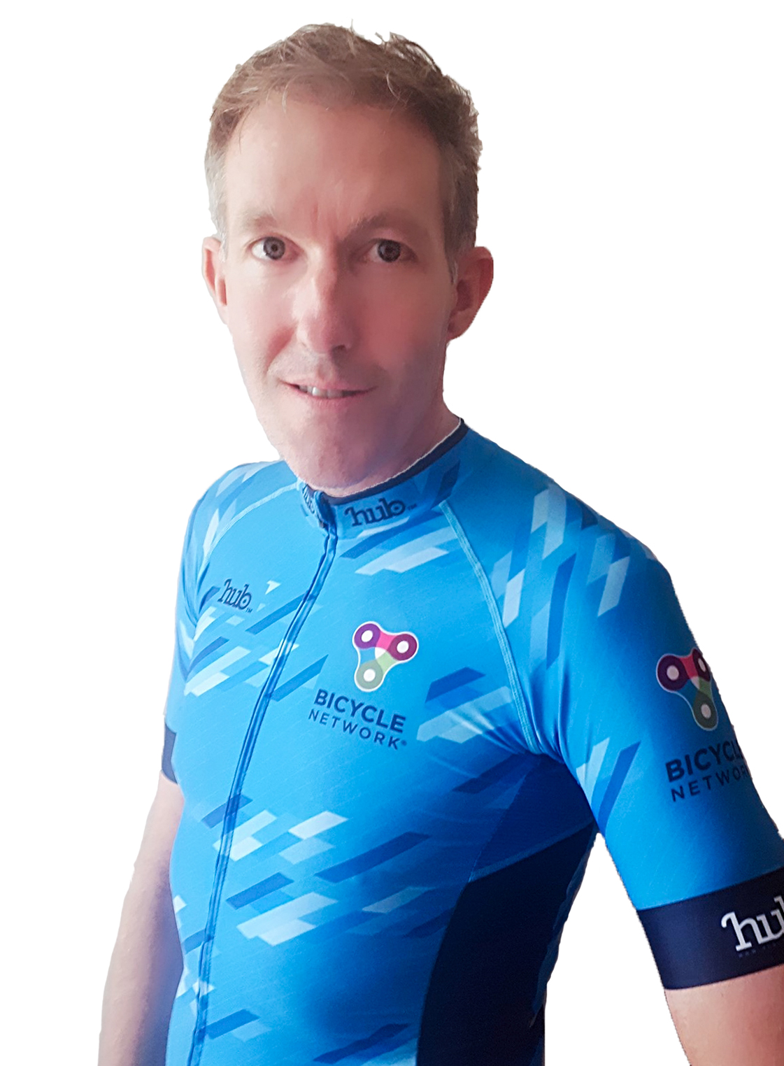 Team Bicycle Network rider Keith Leonard