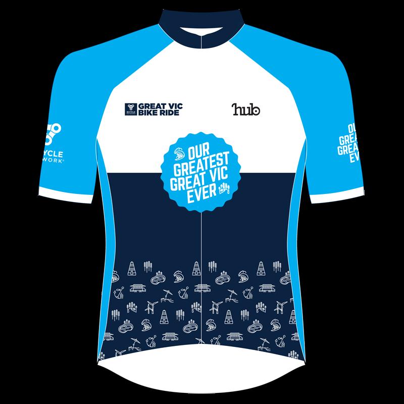 2019 Great Vic Bike Ride jersey