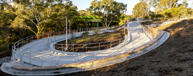 Main Yarra Trail ramp at Chandler Highway