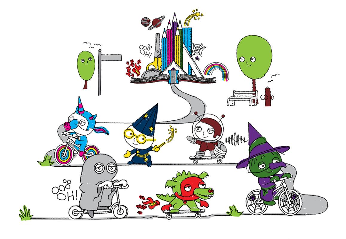 Ride2School Day 2020 Freaky Friday animation