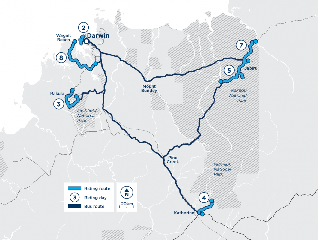 Great Top End Escape 2020 route overview