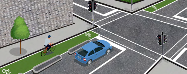new bike lane design