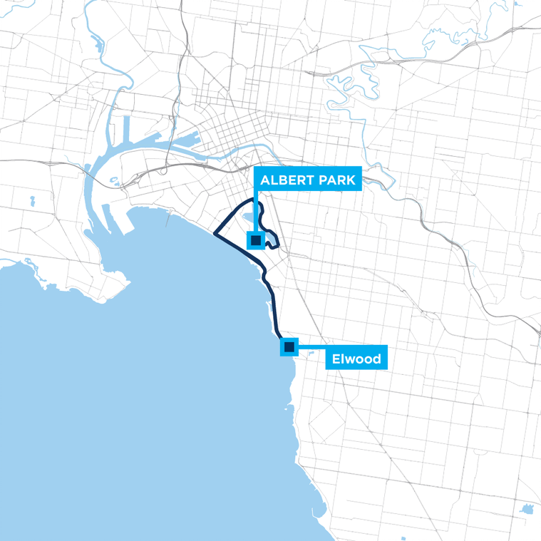 Around the Bay 20km route map