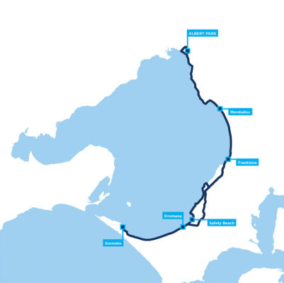 Around the Bay 200km route map
