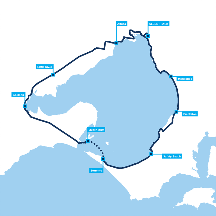 Around the Bay Classic route map