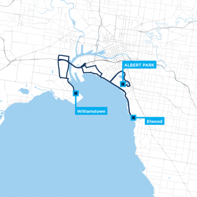 Around the Bay 50km route map