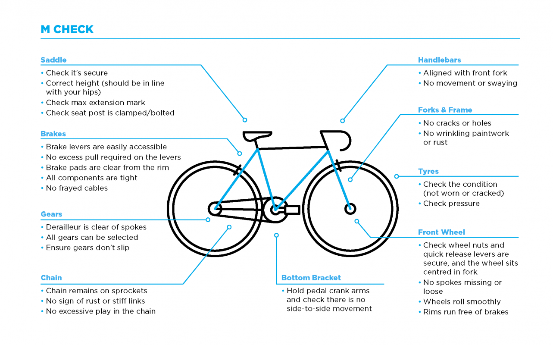 M-Check - Cyan bike