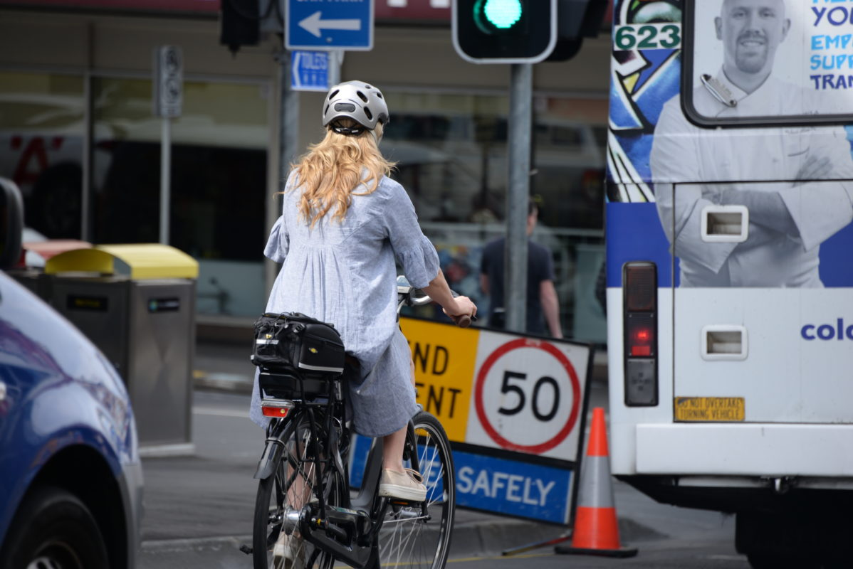 Female Rider on Elizabeth St