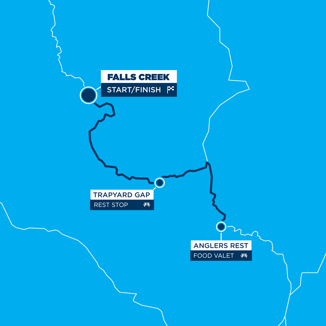 Peaks Challenge Falls Creek 100km Route Map