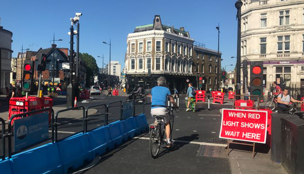 London separated bicycle lanes