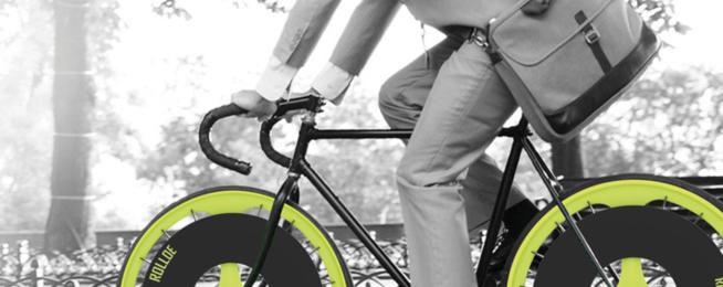 bike wheel that filters air