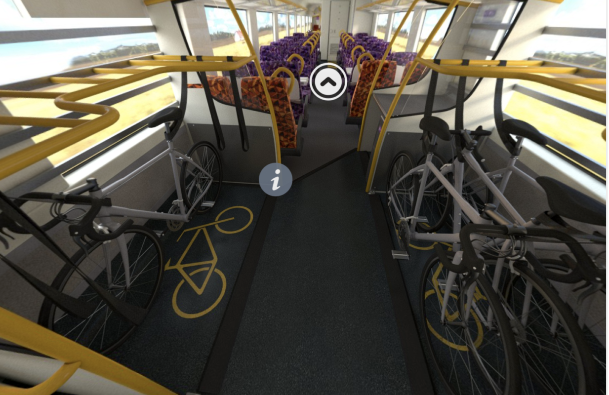 More bike space on Vlocity trains