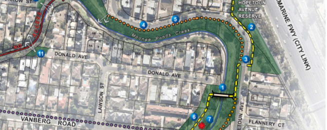 Moonee Ponds Creek link underway