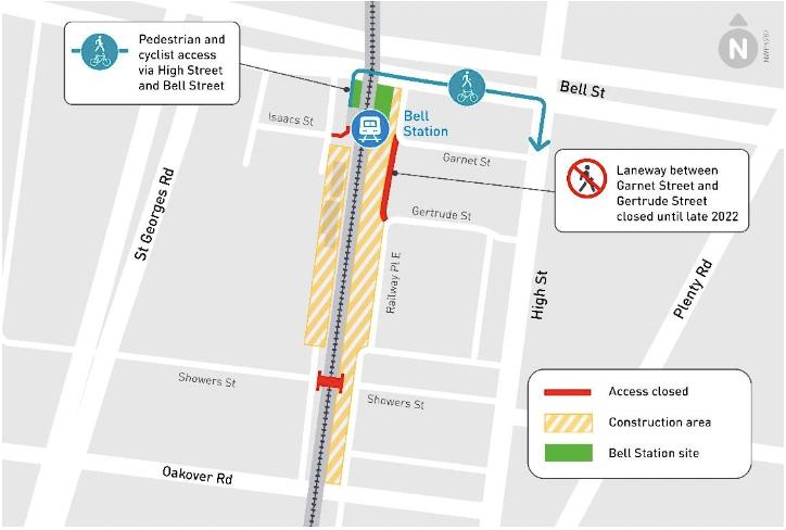 Preston laneway closure