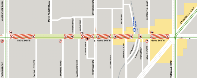 Trams works to close Burke Road