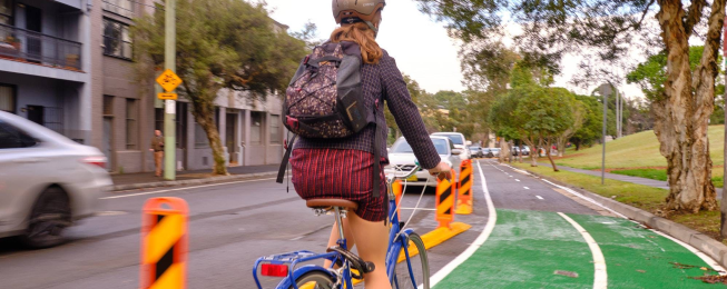 Woolgoolga separated bike lane